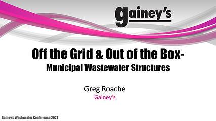 Out the Box Municipal Wastewater Structu