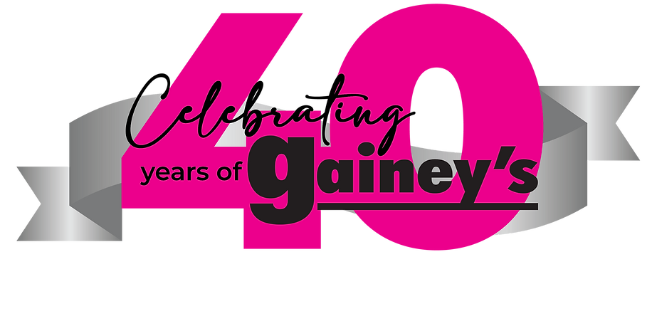 Gainey's 40th Anniversary - ribbon (outl