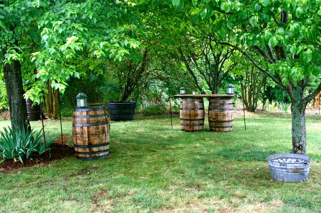 Vintage whiskey barrel decor