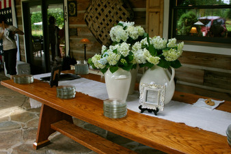 Simple and elegant tablescape