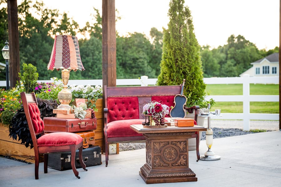 Smoking area from our styled shoot