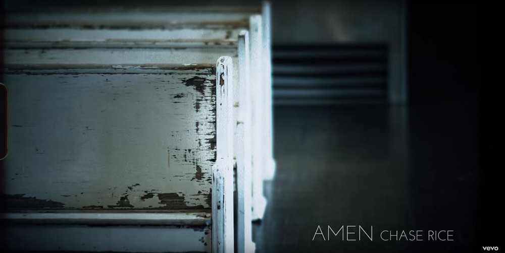 "Vintage church pews rented for Chase Rice's ""Amen"" music video 