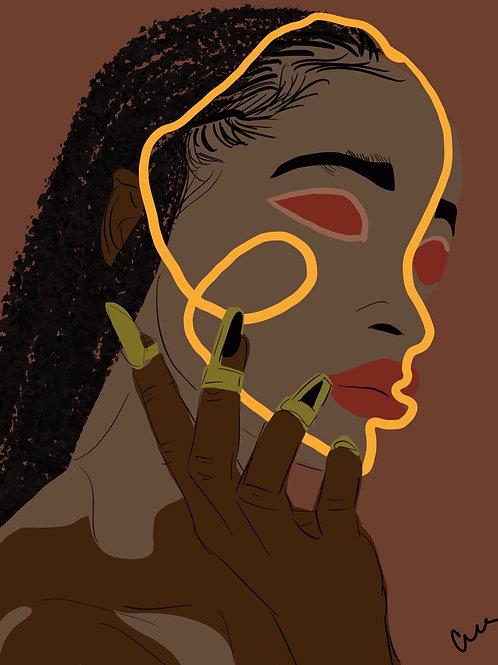 Printed Illustration- Goddess