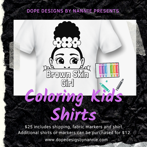 Kids Coloring Shirt Set
