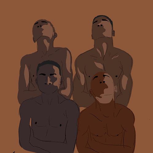 Printed Illustration- The Bros