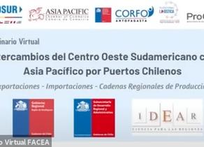 Intercambios del Centro Oeste Sudamericano y el Asia Pacífico por Puertos Chilenos