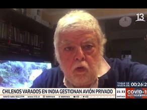 CHILENOS VARADOS EN INDIA GESTIONAN AVIÓN PRIVADO PARA VOLVER AL PAÍS