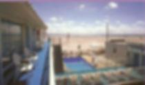 Wildwood Crest NJ Motels Conca D'or Third floor view looking towards beach