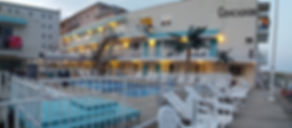 Wildwood Crest NJ motels Conca D'or Front Sundeck and Pool
