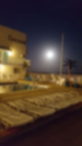 Wildwood Crest NJ Motels Conca D'or Full Moon over Pool
