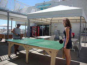 Wildwood Crest NJ Motels Conca D'or  Ping Pong and Picnic area