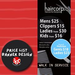 Price List Banner Design