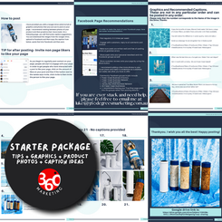 Starter Package - We provided everything needed for the client to run their own Social Media