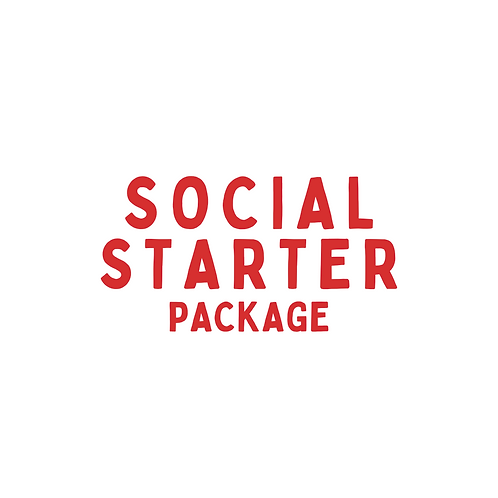 Social Media Content Starter Package