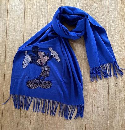 Sjaal-FR/ORMO/MICKEY-Kobaltblauw