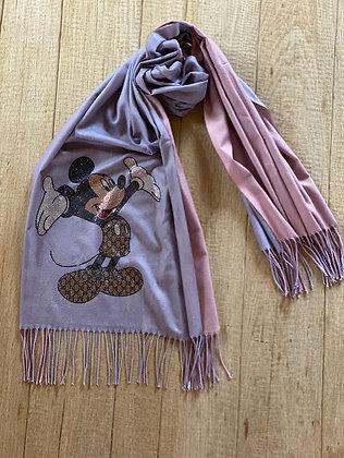 Sjaal-FR/ORMO/MICKEY-Lavendel/Roze