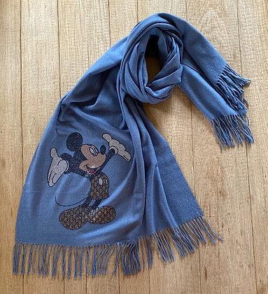 Sjaal-FR/ORMO/MICKEY-Jeansblauw