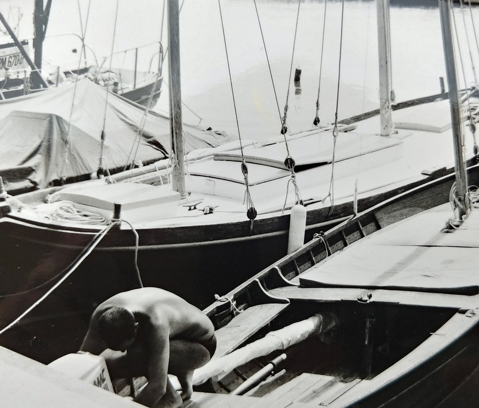 The DonMar in port, 1970s