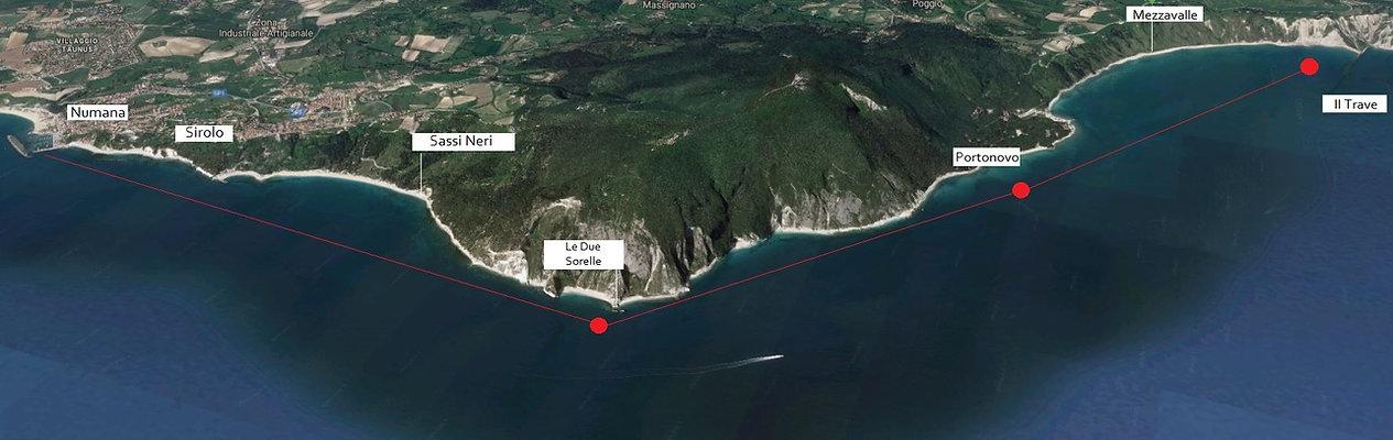 The Itinerary of your boat tour of the Riviera del Conero