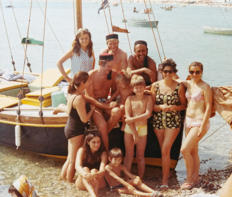 A family picture (with my mother as a teenager sitting at the bottom of the picture) taken after the DonMar's first trip, to Croatia. Summer 1970