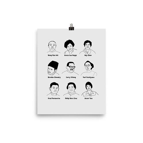 Asian American Activist Icons | Wall Print
