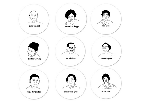 Asian American Activist Icon *sticker sheet*
