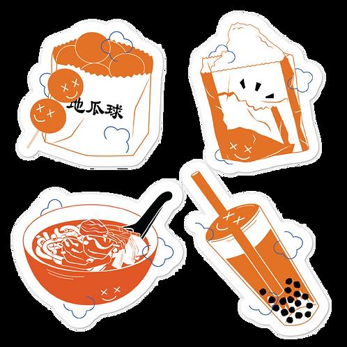 taiwanese street food *sticker sheet*