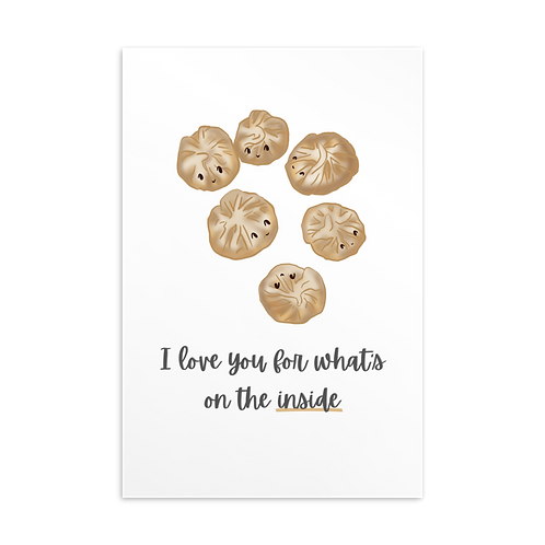 """""""I love you for what's on the inside"""" soup dumplings 