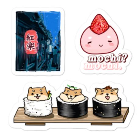 when in japan *sticker sheet*