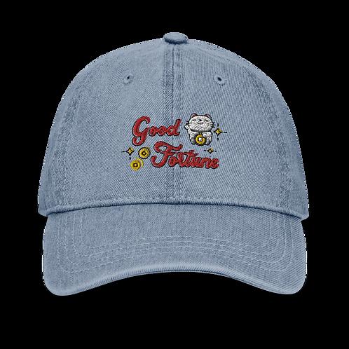 Good Fortune | Denim Baseball Cap