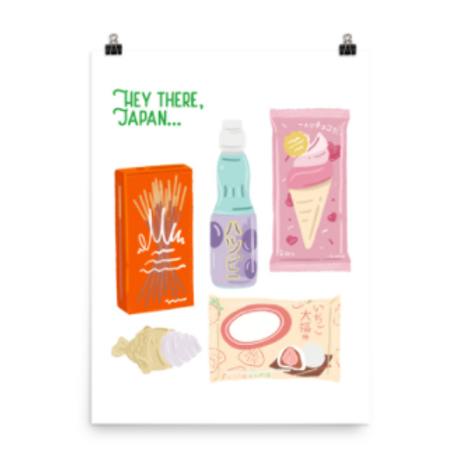 hey there, japan | Wall Print