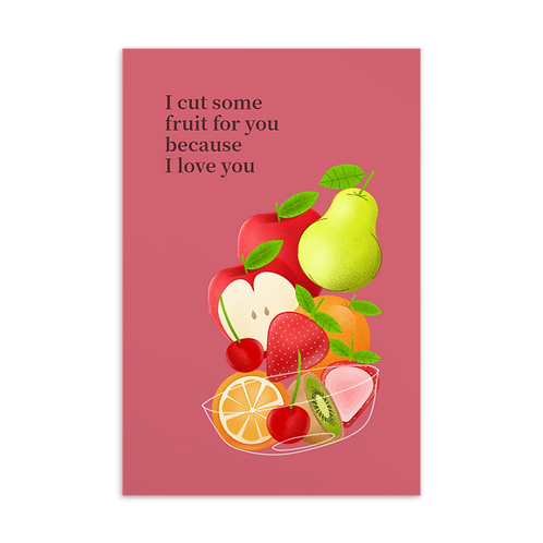 Our Love Language of Fruit | Card
