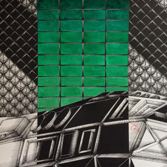 Croco: detail, green