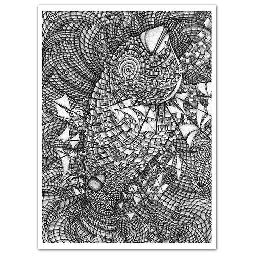 KORKENZIEHER, the Battle Fish, Print