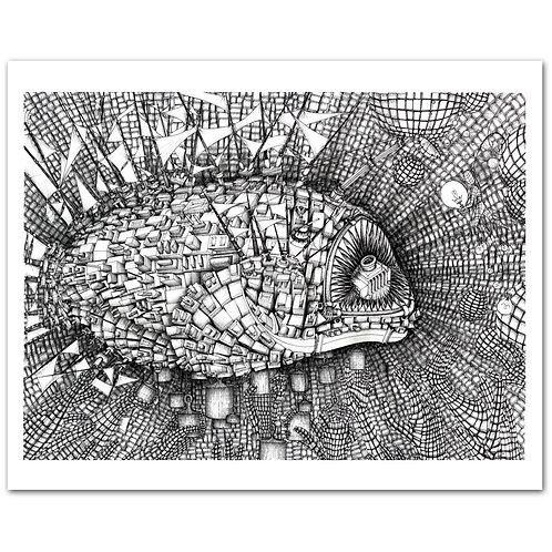 DENSITY, the Angler Fish, Print