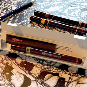 Rotring isograph pens on R.E.D.