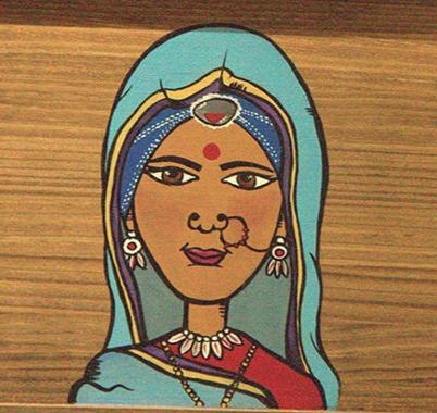 Hand Painted (Bhais Door)