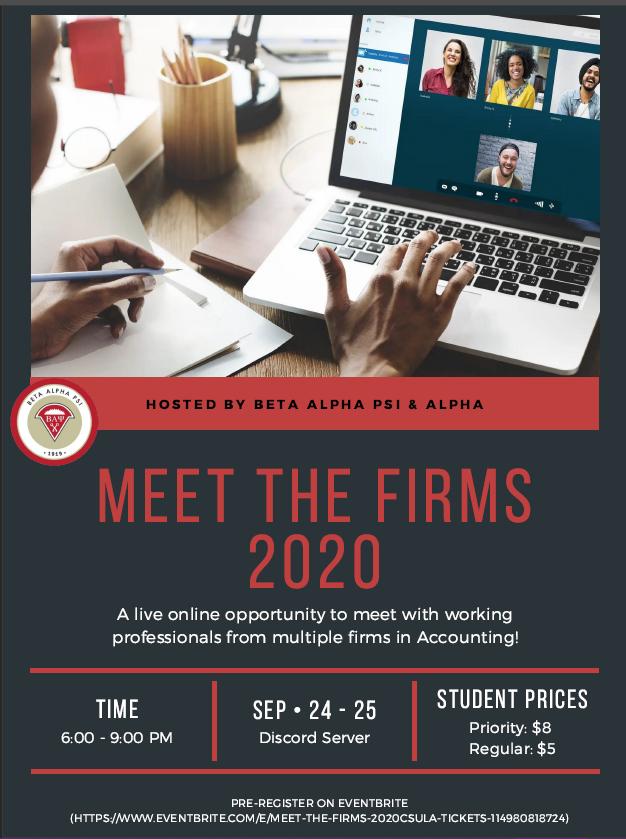 Fall 2020 Meet the Firms