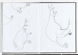 seltsame Wesen im Skizzenbuch