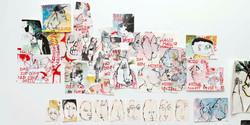 eine Wand in meinem Atelier