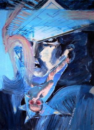 Portrait in blues by Selma Durukanoğlu