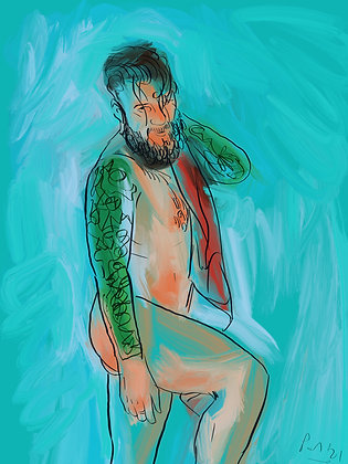 Untitled Tattooed Male by Paul Magrs