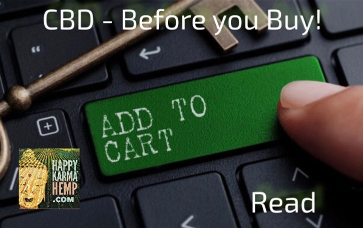 before you BUY CBD Online know