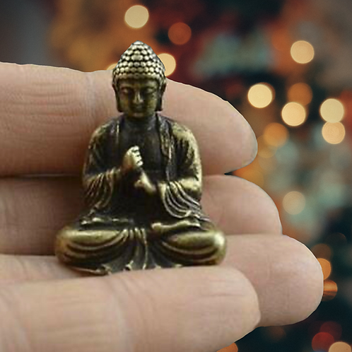 Antiqued Brass Buddha Statue (mini)