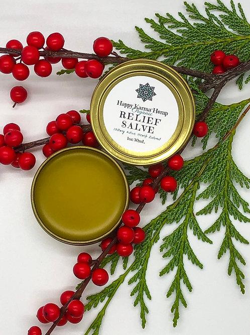 Organic Relief Salve (150mg/1oz) by Happy Karma® Hemp