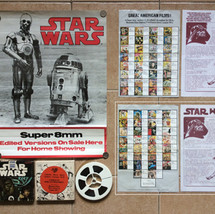 Super 8mm Home Movie store display poster, film reel and promotional literature