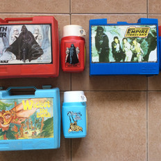 Thermos Empire and Wicket the Ewok lunch boxes and flasks