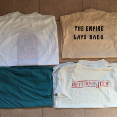 Vintage cast & crew tee-shirts - rear
