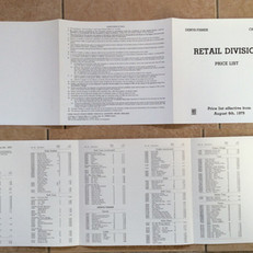 Denys Fisher 1979 retail division price list