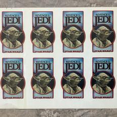 Revenge of the Jedi cast & crew stickers